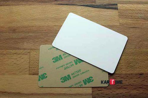 Sticker Plastik Yapışkanlı Kart